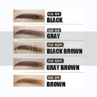 Eyebrows Pencils Black Gray dark Brown Dual-sided Korean ...