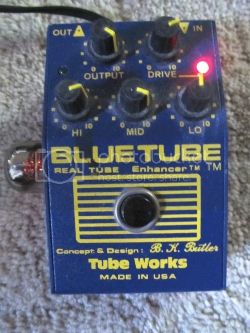 small resolution of i also have another blue tube pedal tube works and a bk butler real tube with an 8414a military grade 12au7 and that sounds incredible