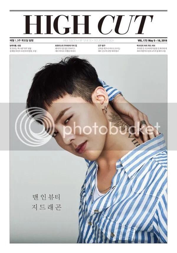 G-Dragon para High Cut (2016). 1