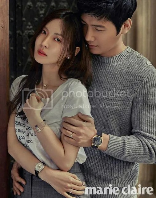 Kim So Yeon y Lee Sang Woo para Marie Claire Corea. 4