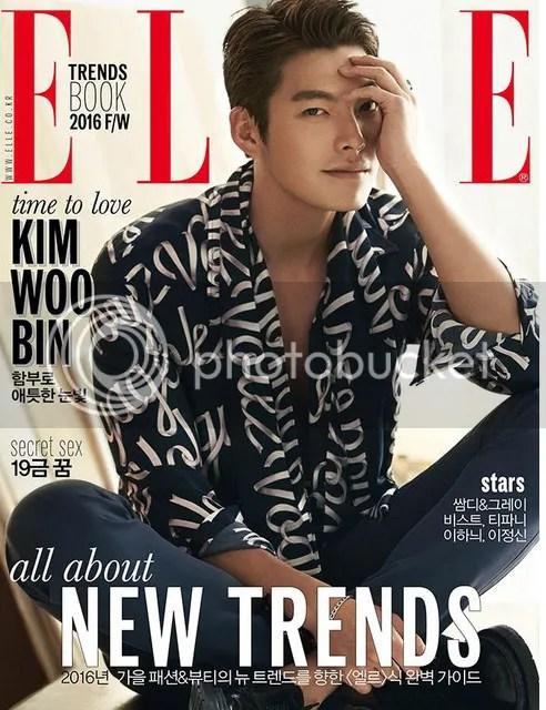 Kim Woo Bin para Elle Corea, agosto de 2016. 6