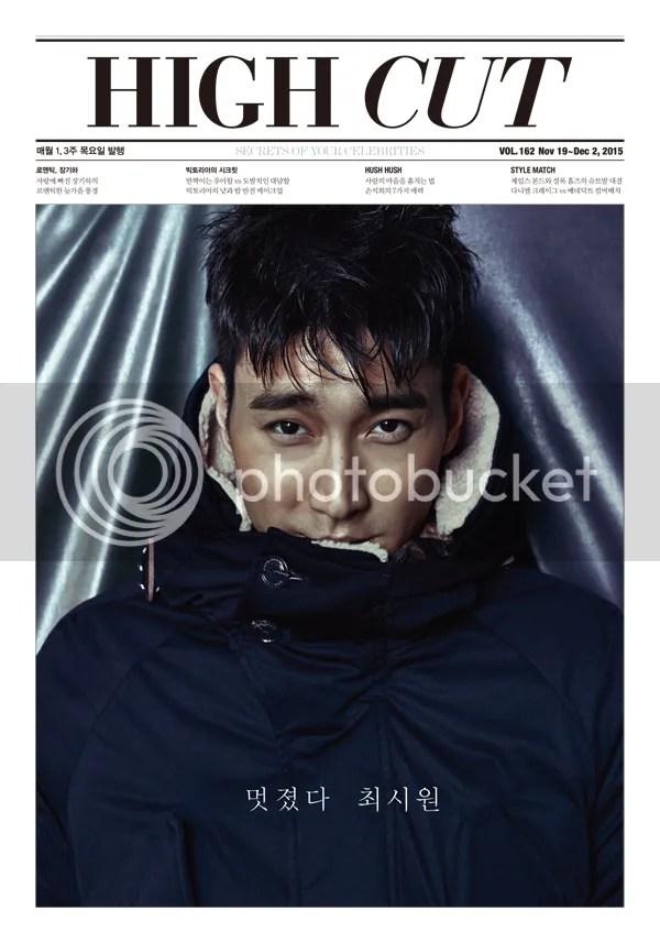 Siwon para High Cut, noviembre del 2015. 1