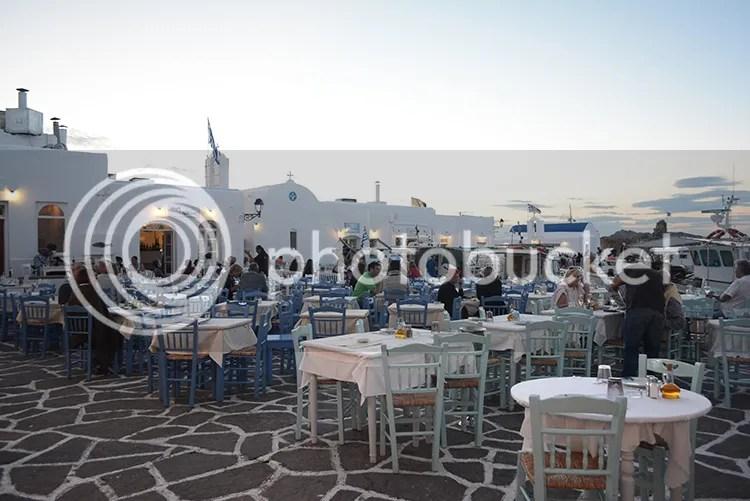 Naoussa port restaurants