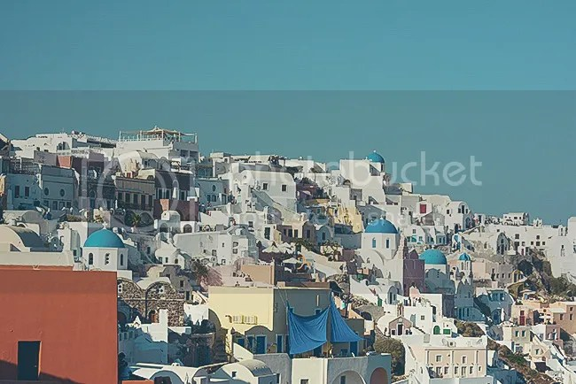 Colorful buildings in Oia, Santorini