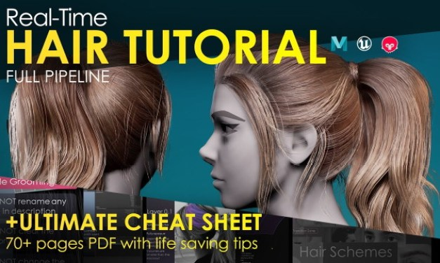 FlippedNormal Real-Time Hair Tutorial