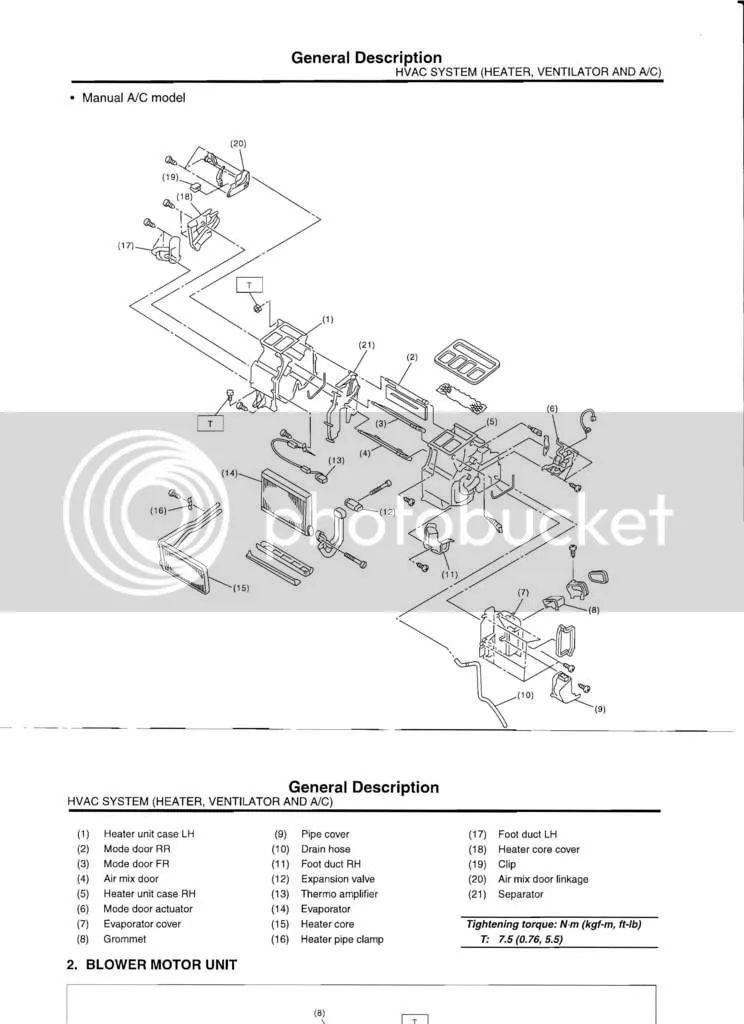 car heater core diagram
