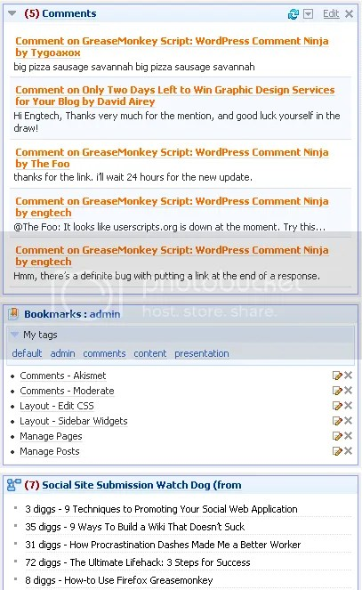 blog maintenance netvibes comment monitoring