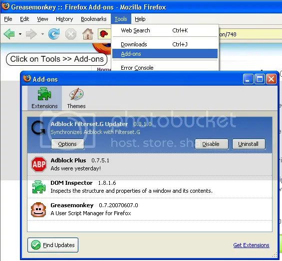 firefox find out what extensions are installed and uninstall some