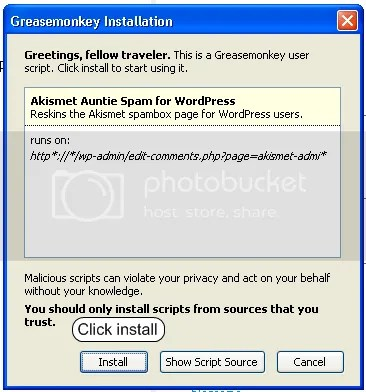firefox greasemonkey extension install script dialog