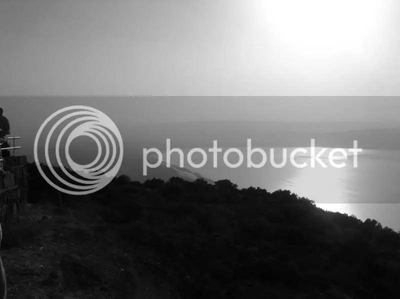 Blick vom Golan ans Südende des See Genezareth