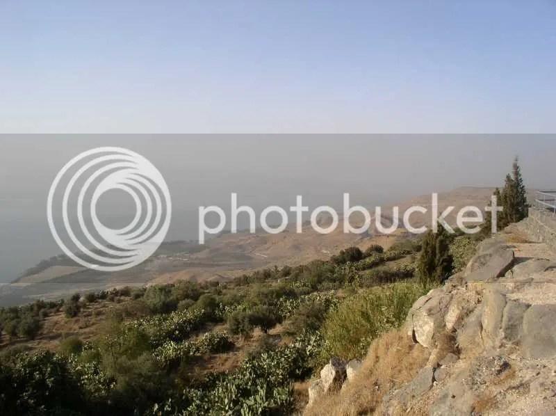 Blick Richtung Nordende des See Genezareth