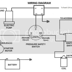 Holley Oil Pressure Safety Switch Wiring Diagram Ford Puma Ecu Electric Fuel Pump Power Supply Dave If You Are Still Going To Wire Up A Relay For The Would Be Something Like This