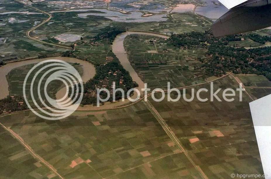 Hà Nội: Aerial xem - những cánh đồng lúa và các khu định cư