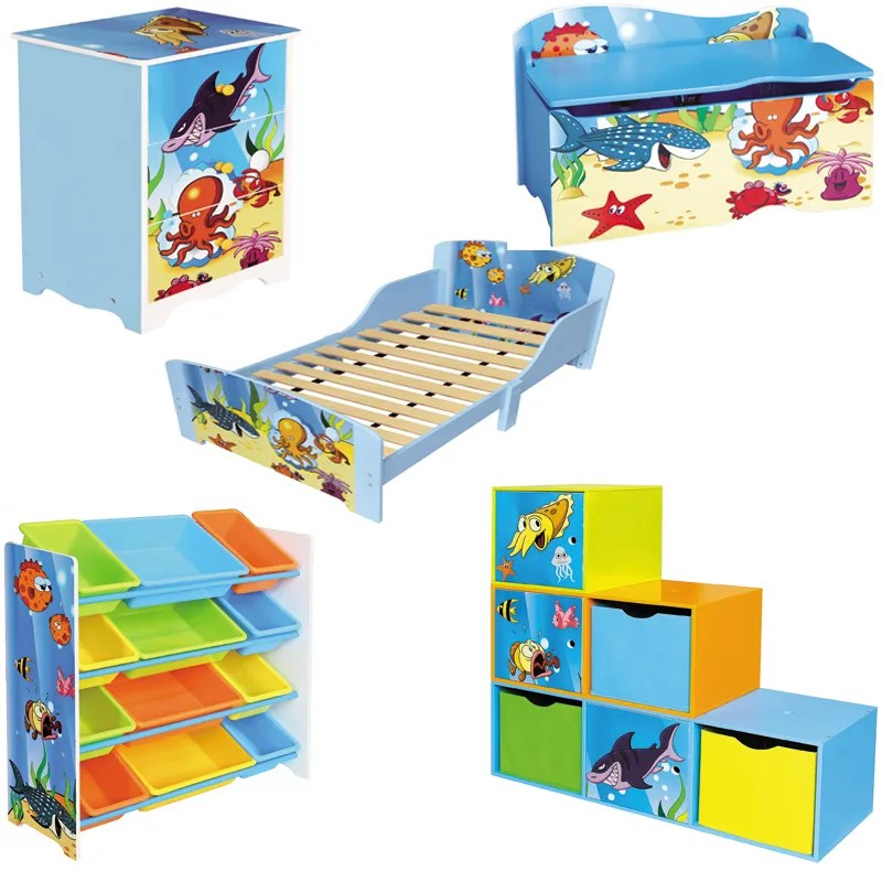 Kids Under The Sea Theme Furniture Set Girls Boys Ocean