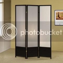 Kids Recliner Chair Modern Swivel Chairs For Living Room Black Finish 3 Panel Folding Screen Divider | Ebay