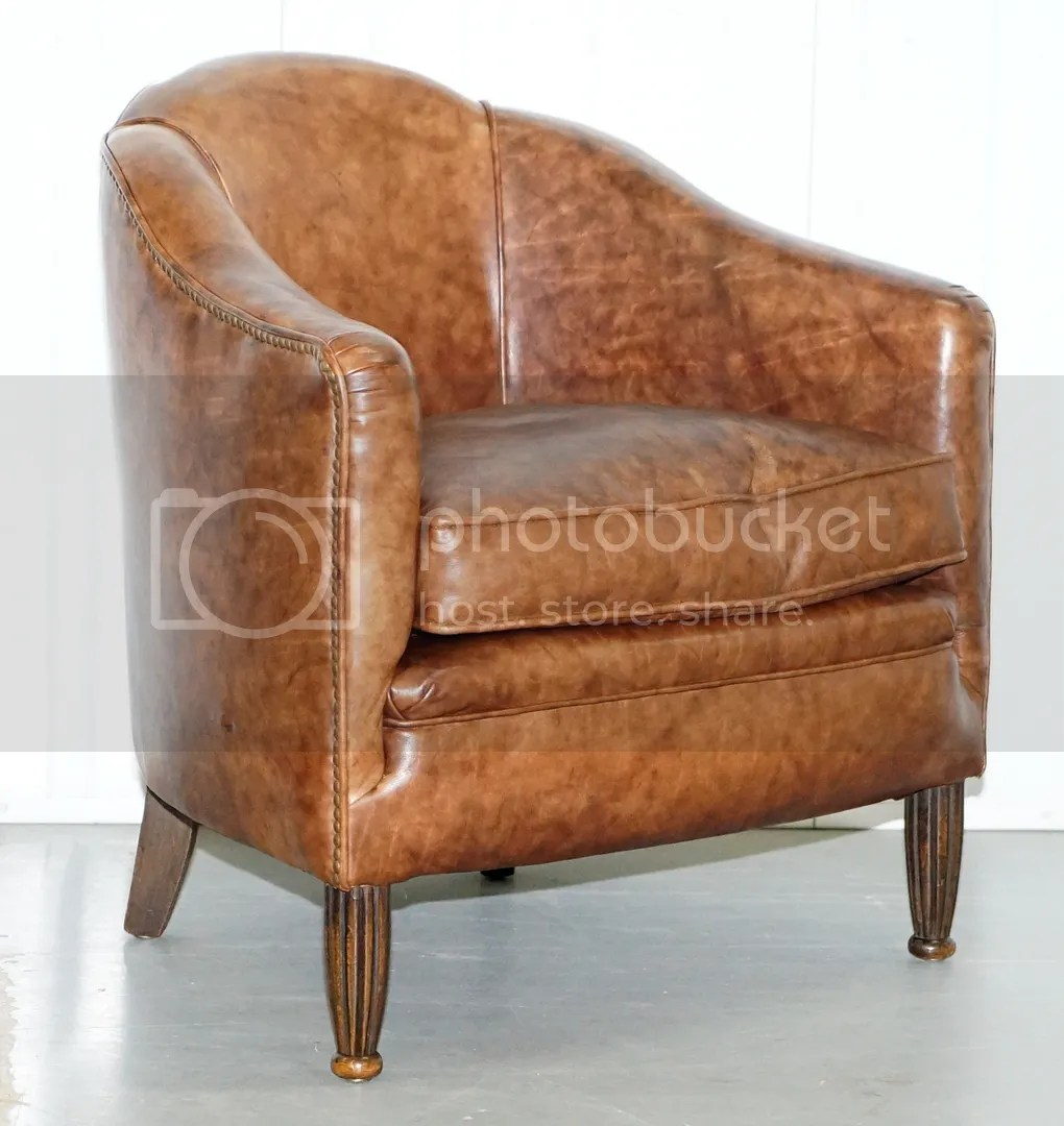 Small Club Chair Details About Stunning Small Fully Restored Art Deco Brown Leather Club Armchair Solid Frame