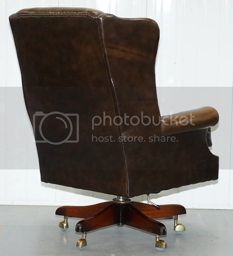 Oversized Wingback Chair Details About Vintage Harrods London Oversized Brown Leather Wingback Office Captains Chair