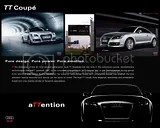 Audi TT Coupe, Audi Envision Campaign for the Middle East. TT, Q7, A8, A6 Concept and copy writing by DFBothma.
