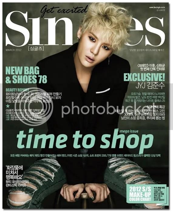 "Junsu ""Singles"" Magazine March Issue"