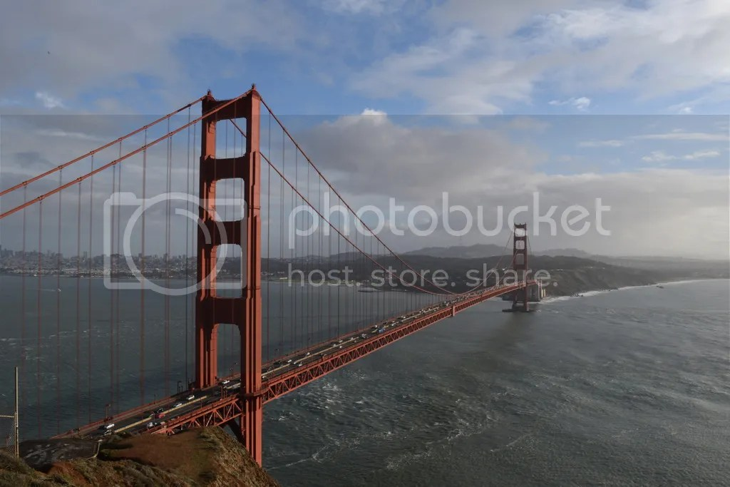 View of Golden Gate Bridge from Battery Spencer