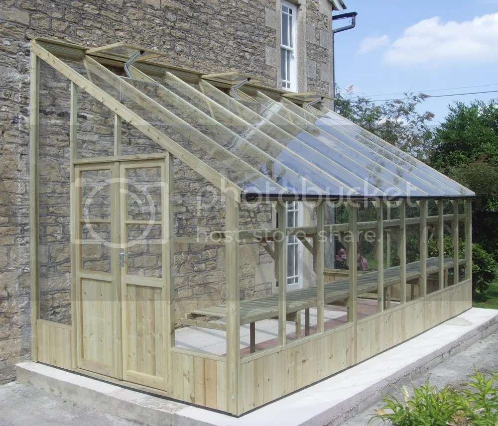 swallow heron lean to greenhouse