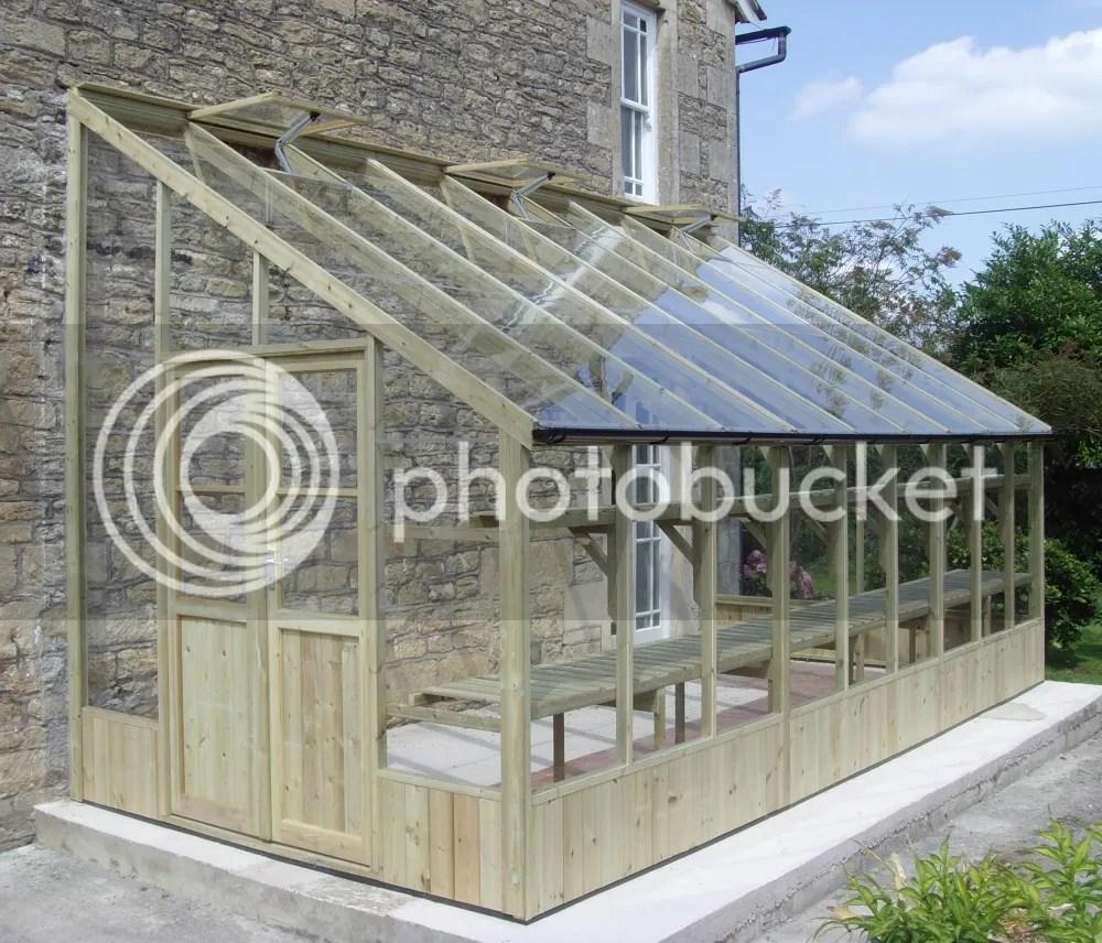 swallow heron lean to greenhouse