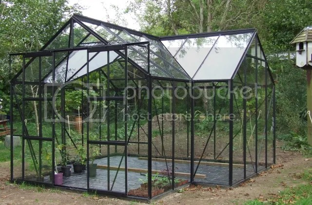 vitavia sirius orangery greenhouse in black