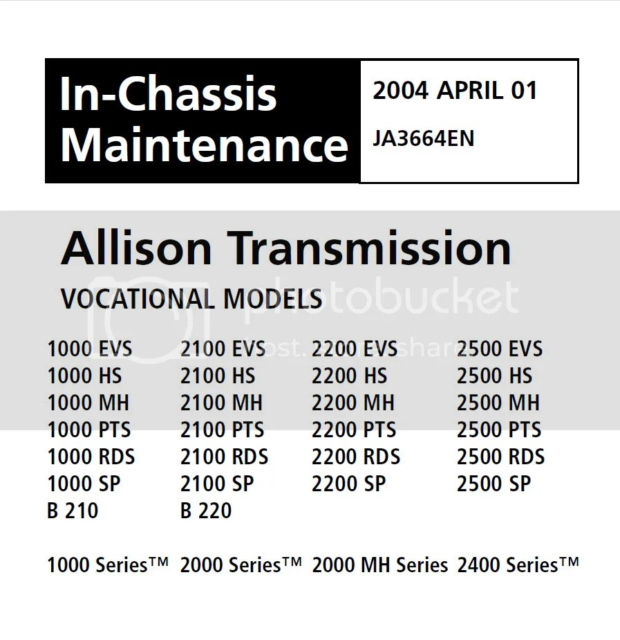 Allison 1k2k Transmission Repair Manual PO3065EN,SM4006EN