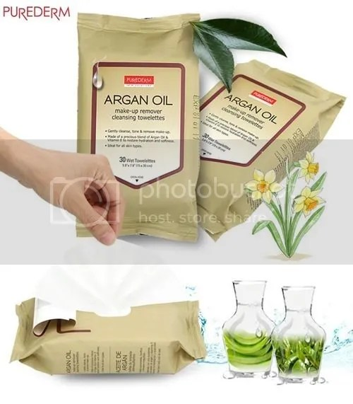 Argan Oil Collagen Makeup Cleansing Towelettes