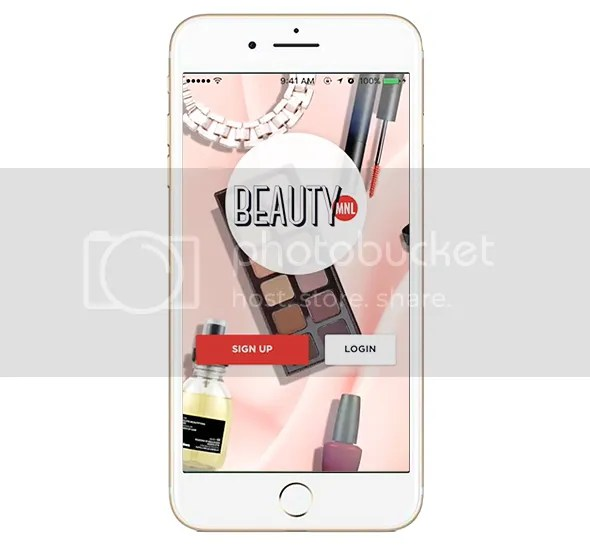 BeautyMNL App Landing page