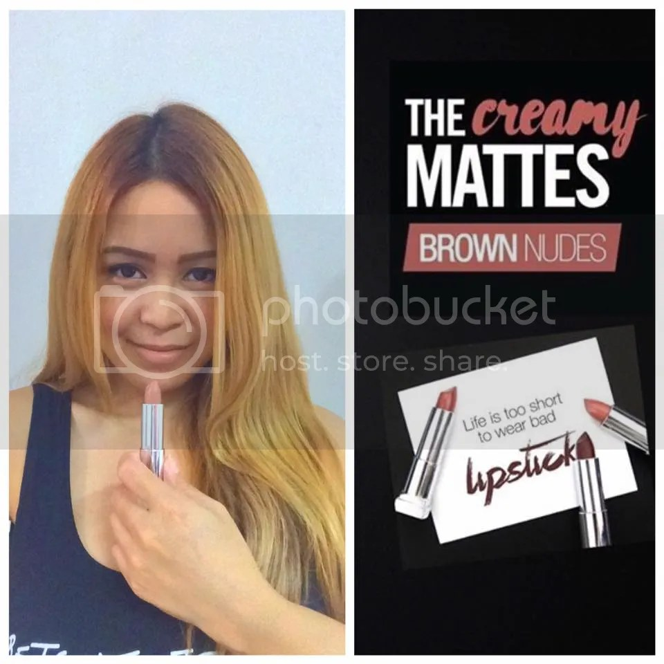 AyeshaHeart and Maybelline Color Sensational Creamy Matte Lip Color in Nude Embrace