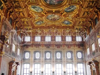 upstairs in the town hall, this is the golden hall...cheap, too.