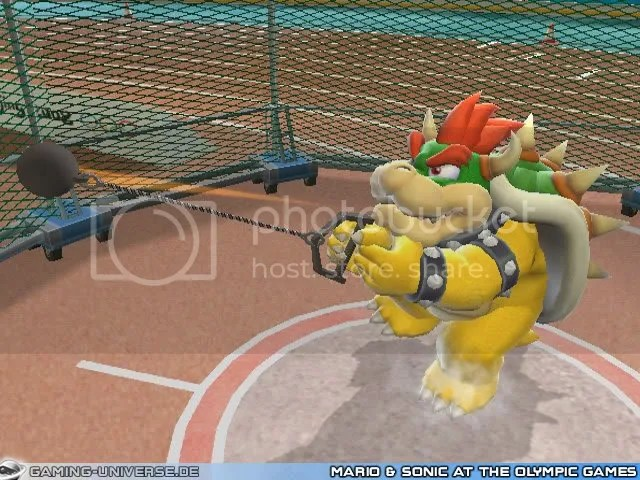 Mario and Sonic - Hammer throw