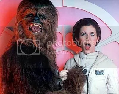 Chewbacca and Leia
