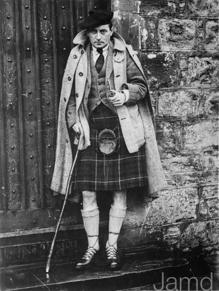 Taken in 1933 of the famous English author and screenwriter Sir Compton Mackenzie who  was one of the founding members of the Scottish National Party.