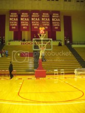 Knight brought three of these five banners to Bloomington
