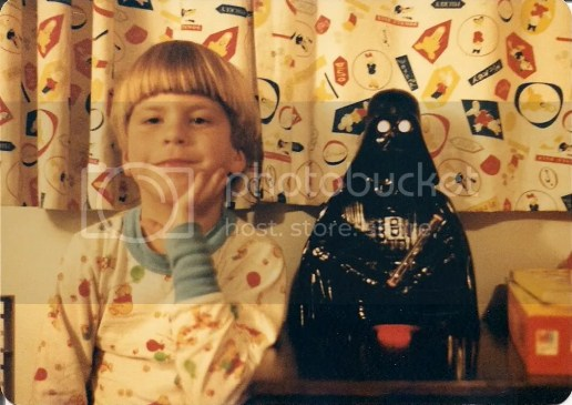 Me with my ceramic Darth Vader nightlight