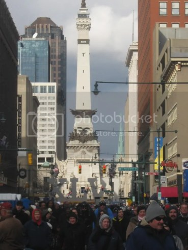Soldiers & Sailors Monument from the Indianapolis Super Bowl Village