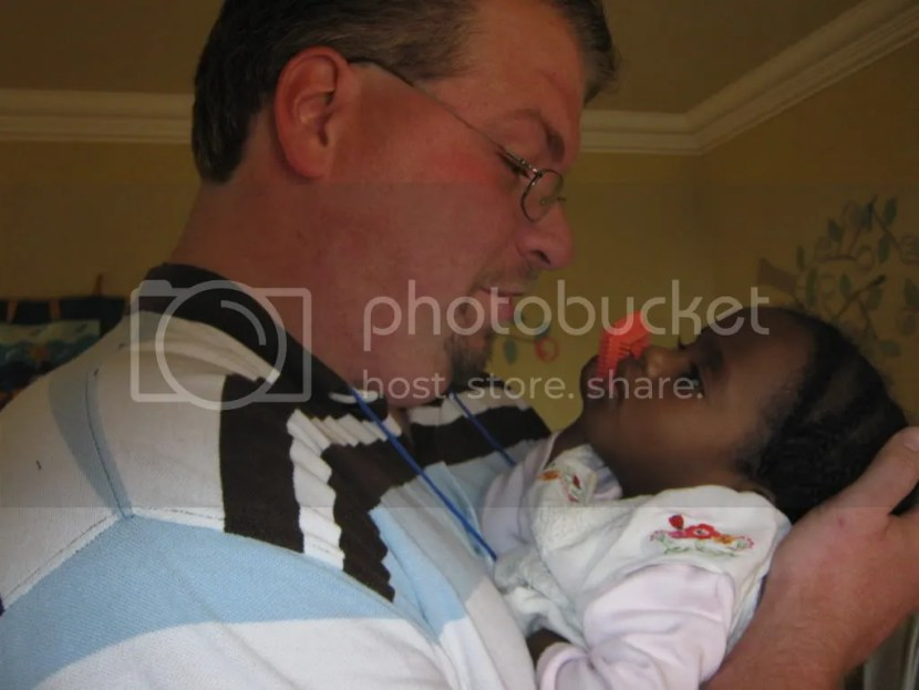 Daddy & Mihret for the first time