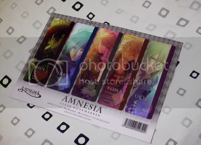 amnesia bookmarks