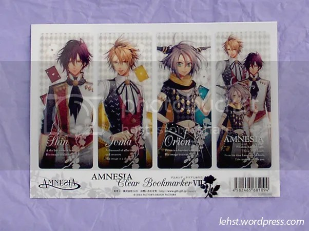amnesia bookmark shin toma orion