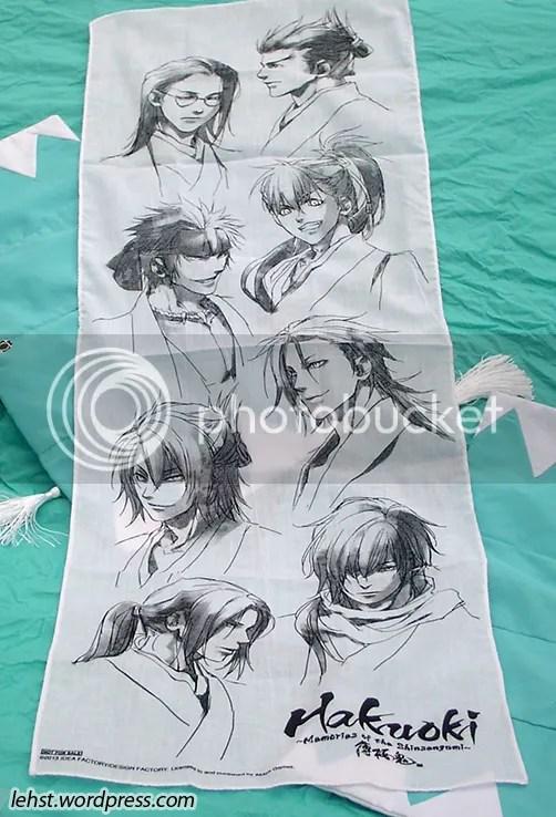 hakuoki hakuouki memories tenugui towel