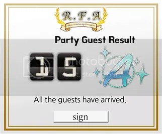 mystic messenger party grade