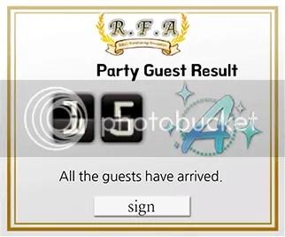 mystic messenger party grade
