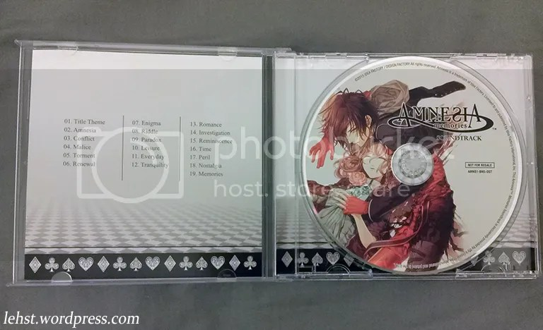 amnesia memories le limited edition english keepsake box soundtrack cd