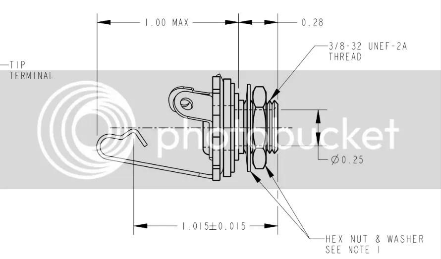 1/4 Mono Guitar input Jack ( 1PC ) For Les Paul, Strat