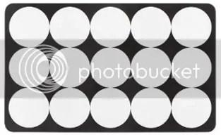 Frühstücksbrettchen Melamin schwarz weiß grafisch bedruckt Kreismuster günstig