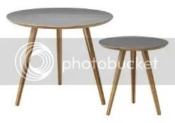 coffeetable beistelltisch satztisch nordisches skandinavisches dänisches design wohnen runde tischplatte drei beine wohnzimmer