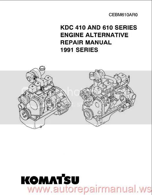 Komatsu KDC410 and 610 Series Engine 1991 Repair Manual