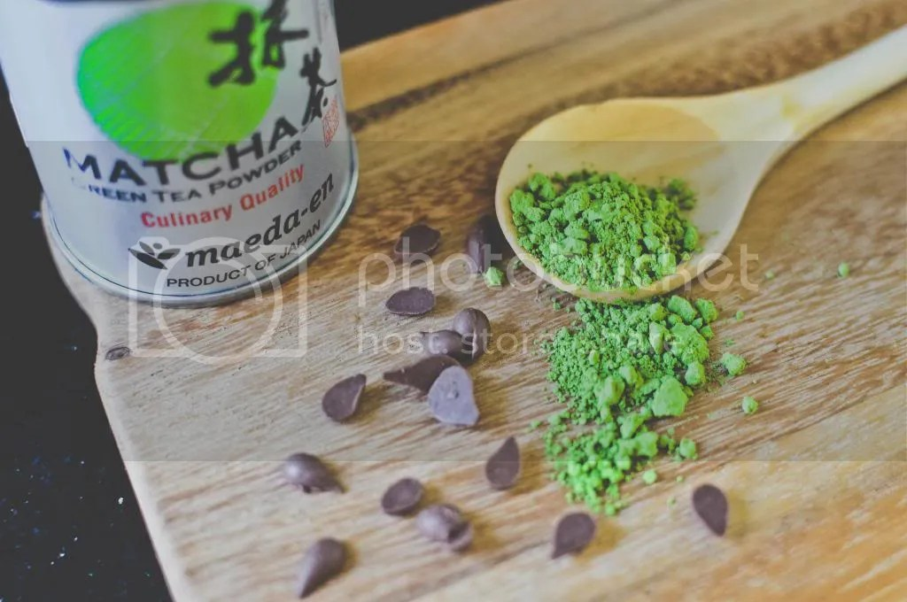 Matcha Powder and Chocolate Chips